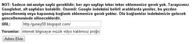 Site URL tanıtımı