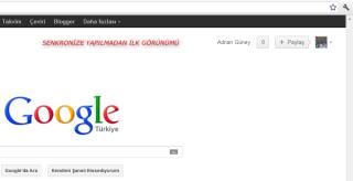 Chrome yeni ham sayfa