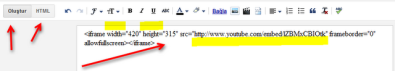 Video html kodu ekleme