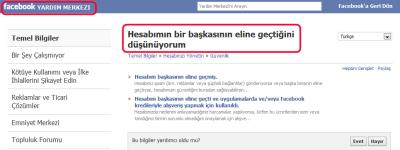 Facebook Yardım