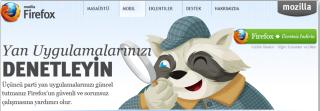 Firefox yan uygulamalar