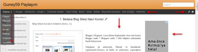 Blogger sayfa yapılandırması