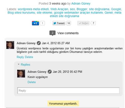 Blog yorumlar