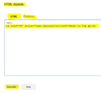 HTML düzenle