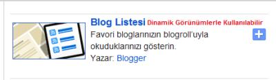 Blog listesi gadgeti