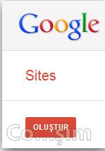 Google sites site oluşturma