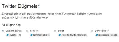 Twitter düğmesi