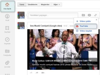 Ana Sayfada YouTube den Yüklenen Video