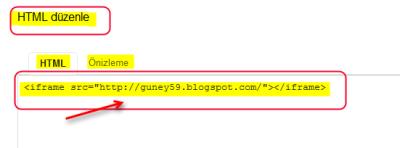 Google sites html düzenle