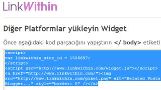 LinkWithin Kodumuz Diğer Platforumda