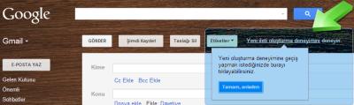 Gmail Yeni İleti oluşturma deneyimini deneyin