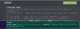 3.Tumblr html şablonunda kod eklenmiş görseli