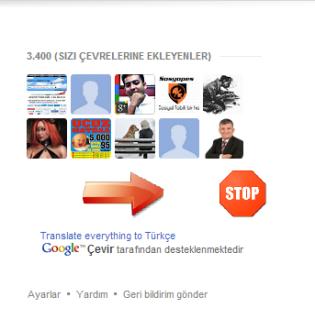 Google+ Followers Gadgetinizdeki çevreleriniz