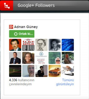 Google+ Followers Kod Ekle (Özel)